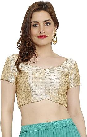 Kfgroup Blusa de seda con borla de seda y cuello dorado para ...