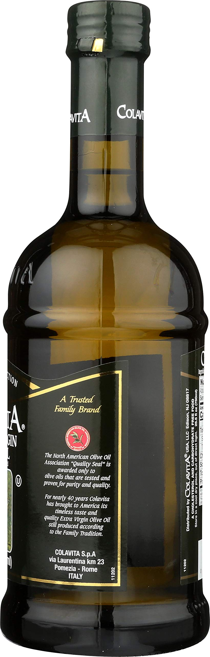 Colavita Extra Virgin Olive Oil, First Cold Pressed, 25.5 fl. oz., Glass Bottle by Colavita (Image #7)