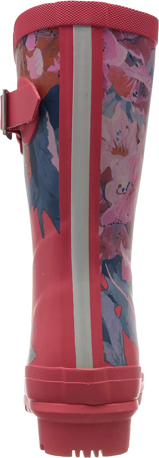 Joules Damen Molly Welly Gummistiefel Rot Red Floral Red Floral