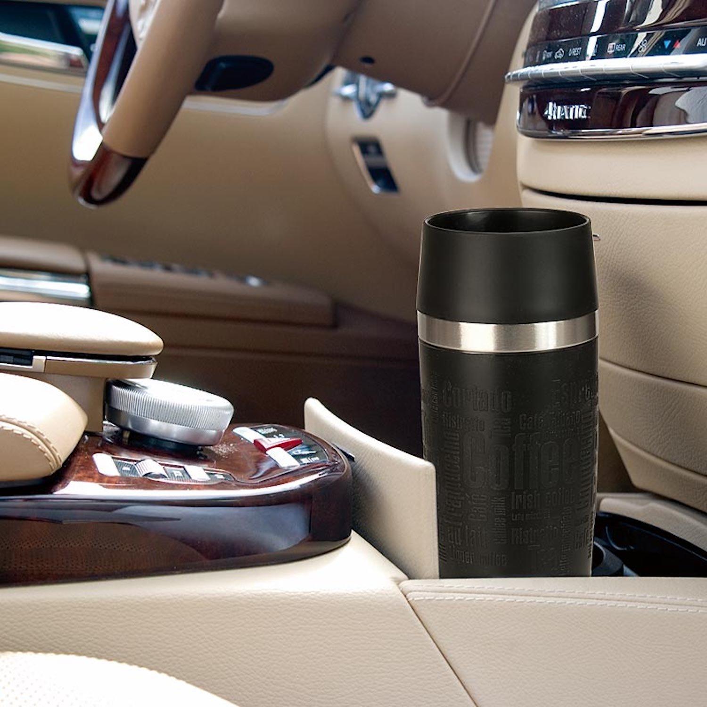 Emsa 515614 ''Grande'' Stainless Steel Travel Mug, 16.91 oz, Silver