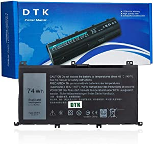 DTK 357F9 Replacement Laptop Battery for Dell 15 7559 7000 7557 7567 7566 7759 INS15PD Series Notebook 71JF4 357F9 071JF4 11.1V 74W