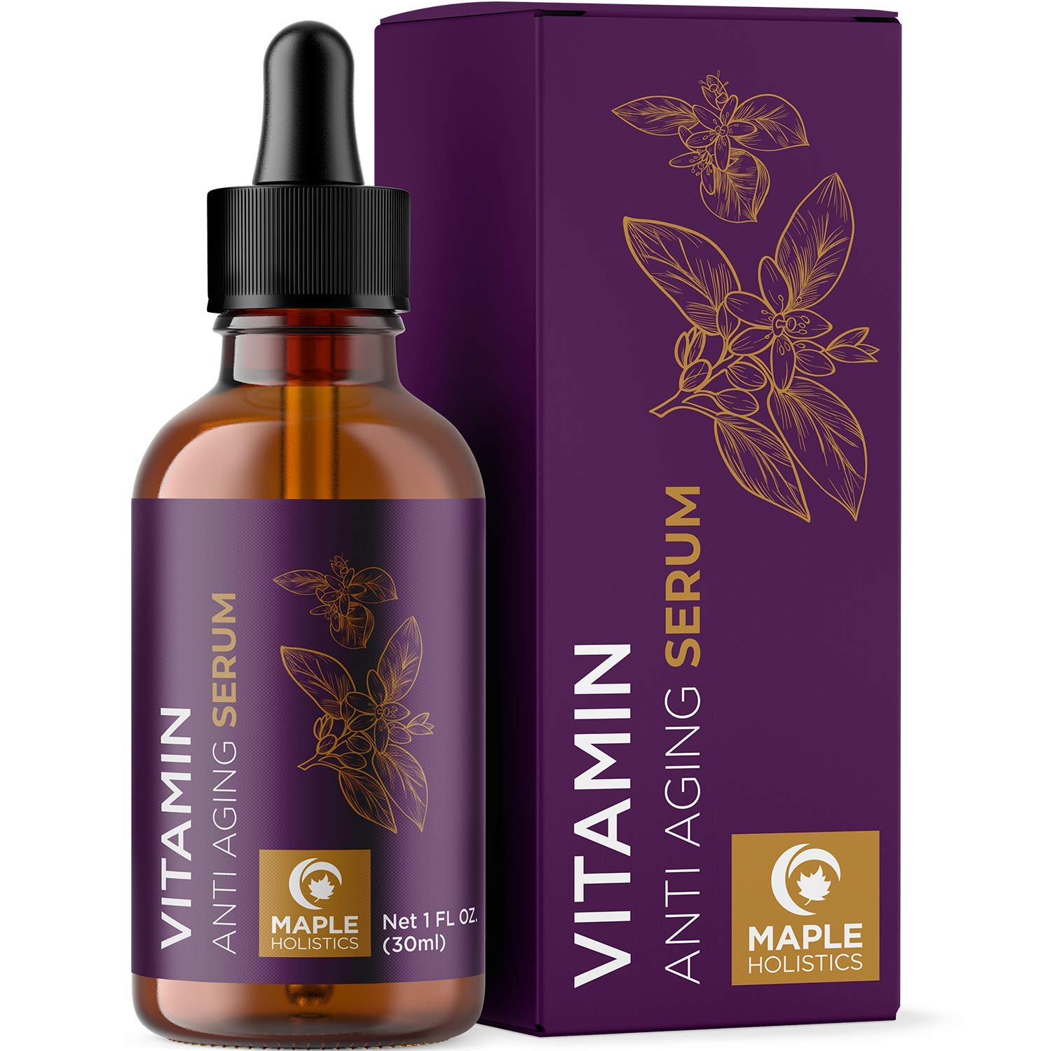 Vitamin C Hyaluronic Acid Serum - Vitamin C Serum for Face with Hyaluronic Acid Pure Jojoba Oil and Natural Vitamin E Oil for Skin Care - Pure Hyaluronic Acid Serum for Face Moisturizer for Dry Skin