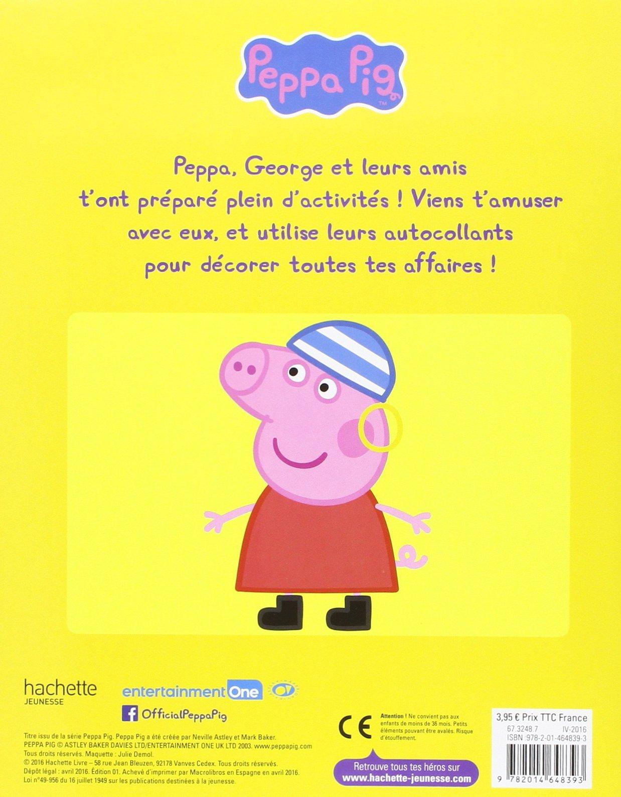 Amazon Peppa Pig mon livre d autocollants Hachette Jeunesse Livres