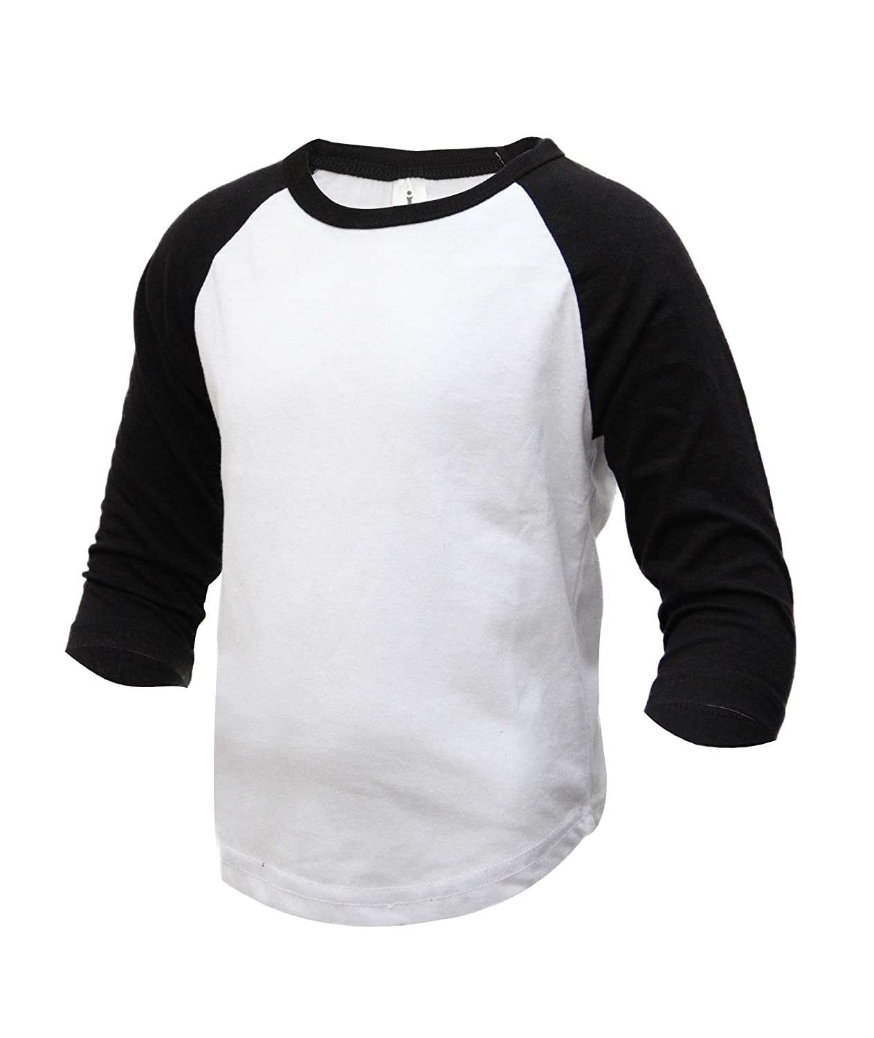 b573270ec9bb82 Amazon.com  Kids   Youth Baseball Raglan T-Shirt 3 4 Sleeve Infant Toddler  Youth Athletic Jersey Sports Casual (10+ Colors)  Clothing
