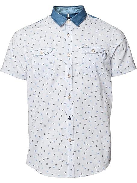 MISH POLO de manga corta DIXON de dibujos de osos azul tela vaquera camiseta de fútbol