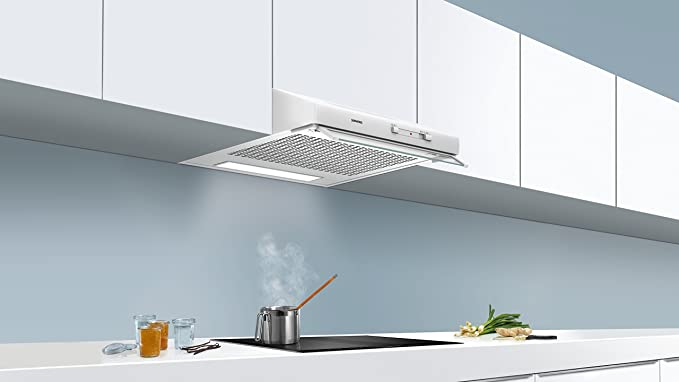 Siemens iQ100 LU62LFA20 Telescópica o extraplana Blanco 230m³/h D - Campana (230 m³/h, Canalizado/Recirculación, F, E, D, 71 dB): Amazon.es: Grandes electrodomésticos