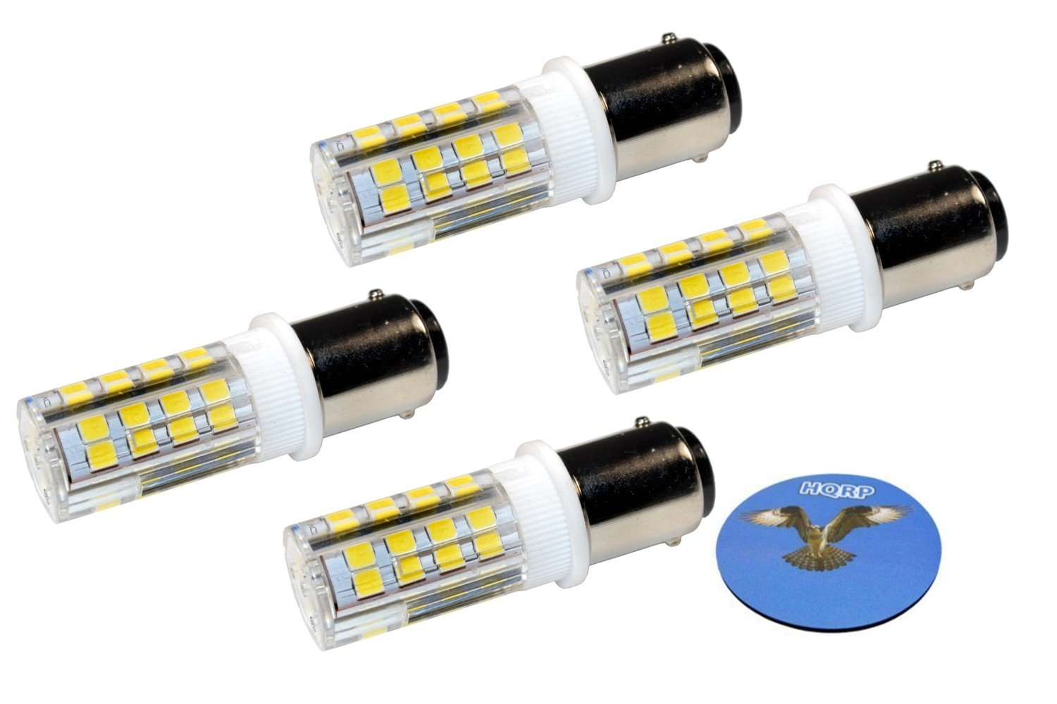 HQRP 4-Pack Sewing Machine LED Light Bulb for Janome (Newhome) 108 134D 204D 659 1004 1612 1622 1814 1818 1822 3125 3434D MC4018 My Excel 4023 MX3123 TB-12 plus HQRP Coaster
