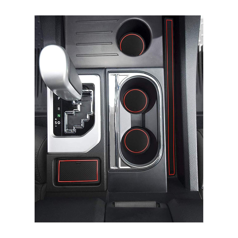 YEEPIN Tapis Antid/érapants Tesla Mod/èle 3 2018 2019 Voiture Accessoires Int/érieurs Tasse dEau Anti-Glissement Anti-Bruit En Caoutchouc Pad Pour Les Bo/îtes De Rangement De Voiture Ensemble de 13 Pcs