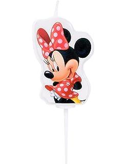 dekora 346144 Vela de Cumpleaños Mickey Mouse Numero 4, Cera ...