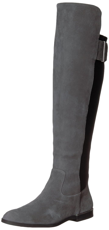 Calvin Klein Women's Priya Over The Knee Boot B073X97X2W 8.5 B(M) US|Slate/Black Leather/Stretch