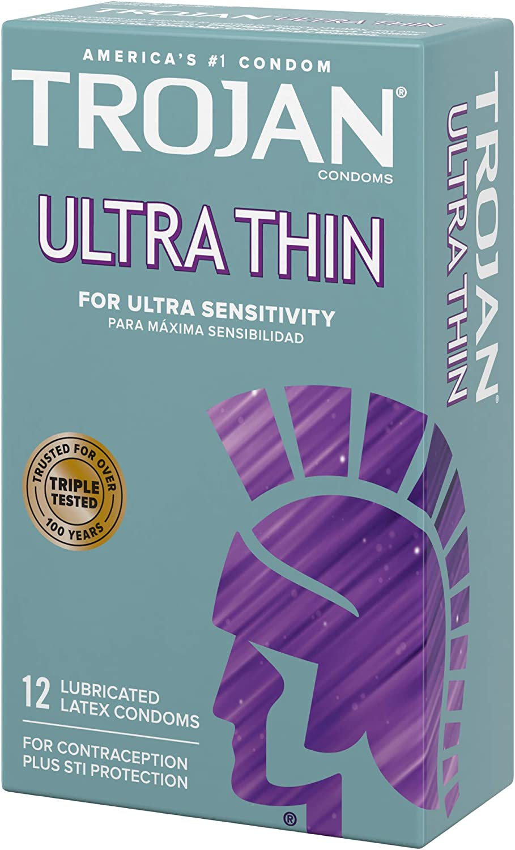 Trojan Condom Sensitivity Ultra Thin Lubricated