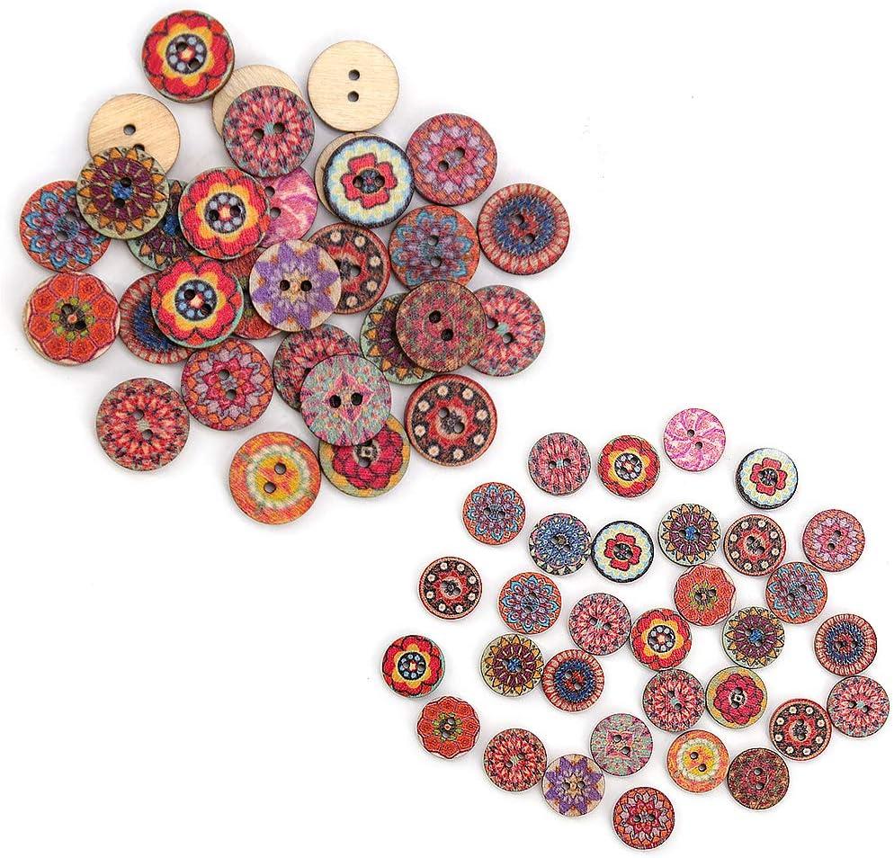 costura 3 tama/ños-15 mm//20 mm//25 mm botones de madera para manualidades manualidades botones de beb/é para hacer punto Homo Trends 250 botones de madera para tejer varios colores al azar