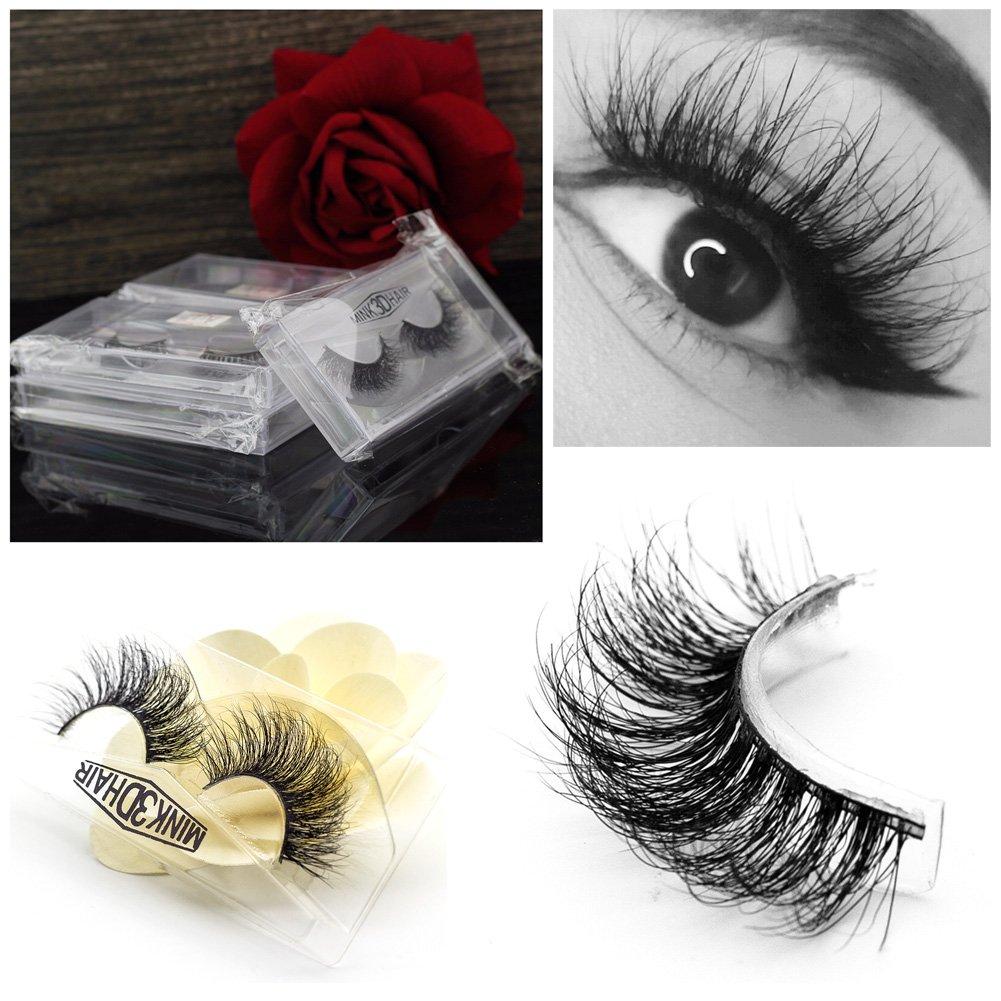 96d6d3fca54 Vanlov 3D Mink False eyelash Reusable 100% hand made fake eyelashes for  Make-up