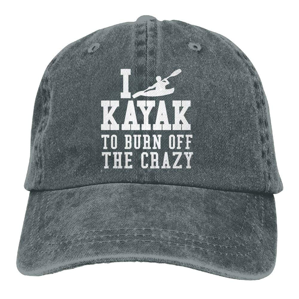 AAPPU I Kayak To Burn Off The Crazy Vintage Jeans Baseball Cap For Men And Women