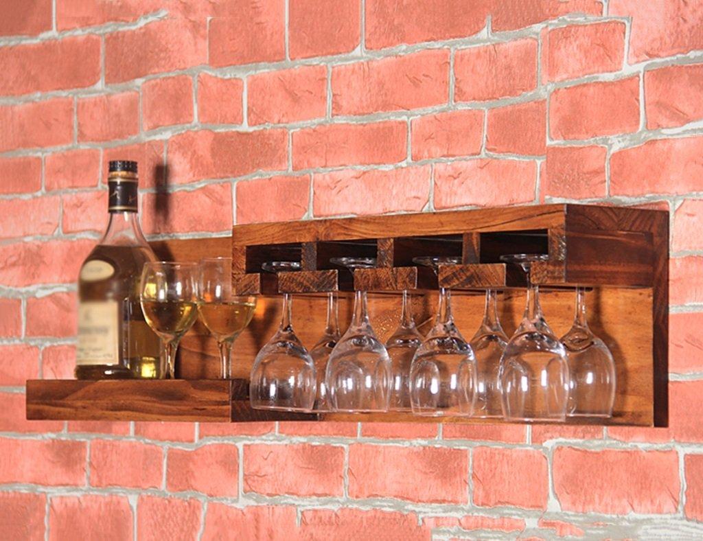 ZCJB Casier à vin Étagère À Vin Étagère En Bois Cuisine Mini Bar Rack De Stockage Mural De Style Européen ( Couleur