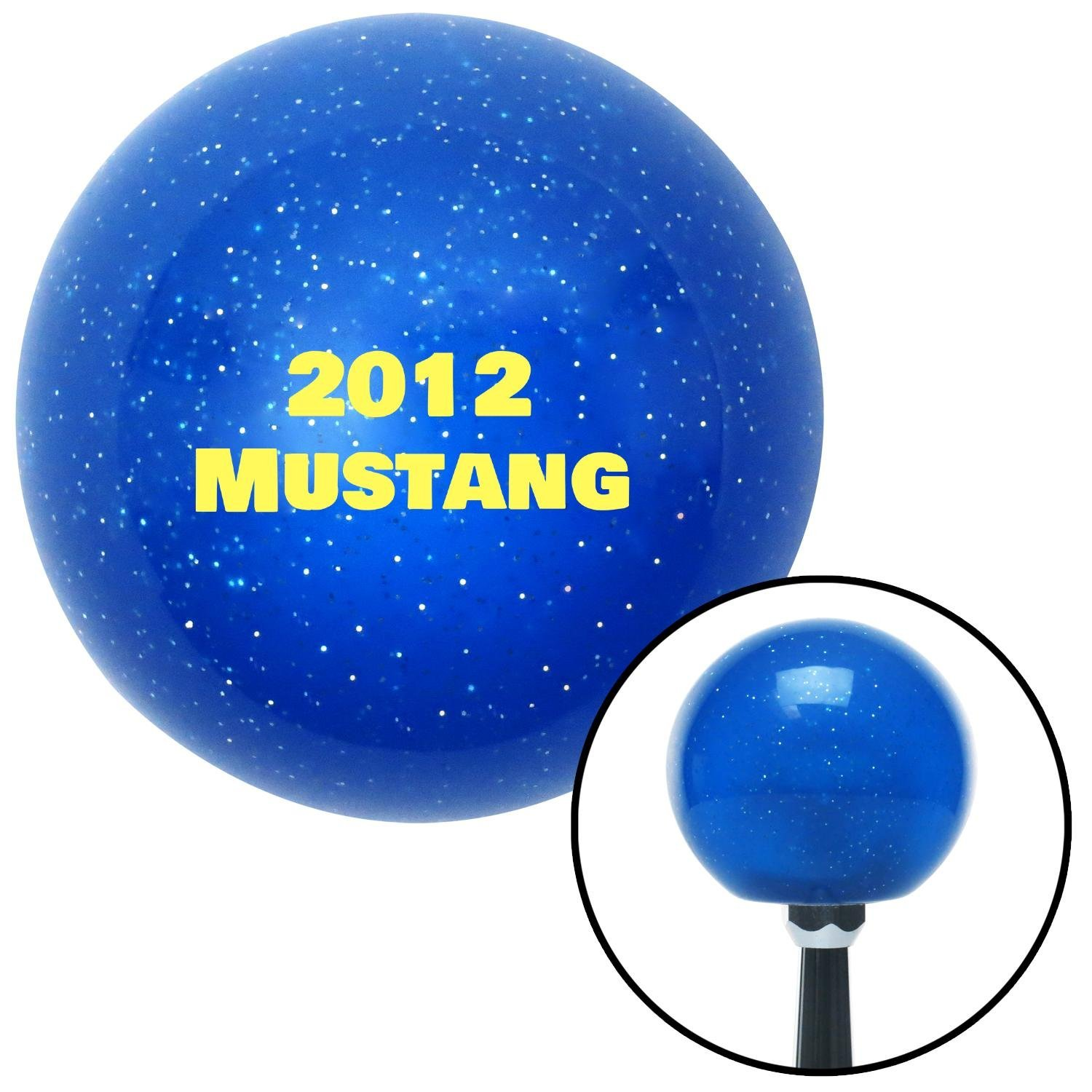 Yellow 2012 Mustang American Shifter 141122 Blue Metal Flake Shift Knob with M16 x 1.5 Insert