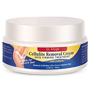 St. Mege Cellulite Removal Cream with Caffeine - Massaging & Slimming Cream - For All Skin Types, 3.38 OZ / 100G