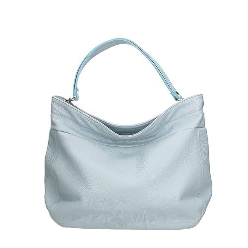 2147235fe0 Aren - Shoulder Bag Borsa a Spalla da Donna in Vera Pelle Made in italy -  37x29x12 Cm: Amazon.it: Scarpe e borse