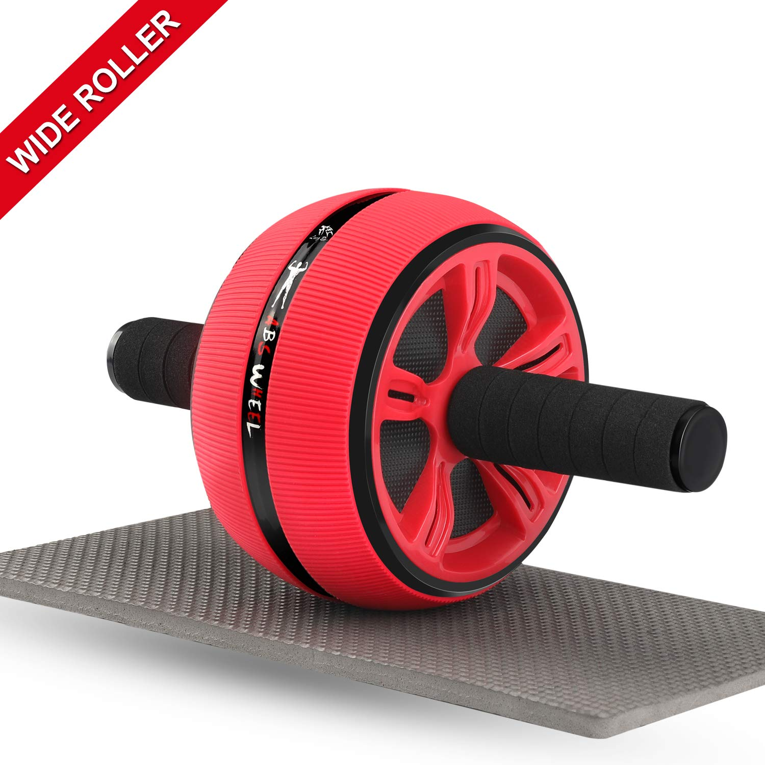 Ab Roller, Ab Roller Wheel for Men and Women, Home Abdominal Exercise Fitness Ab Wheel Roller- with Resistant Band and Knee Pad