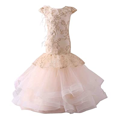 58cf19cbac5d1 HotDresses Mermaid Flower Girl Dresses Appliques Cute Little Girl Pageant  Gown for Wedding Party