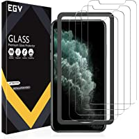 EGV 4 Pack Screen Protector for iPhone 11 Pro Max/iPhone Xs Max 9H HD Clear Tempered Glass, Case Friendly, Alignment…