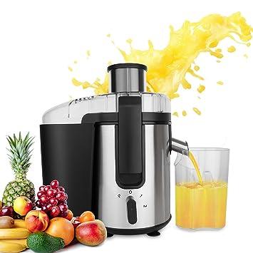 buysevenside multifunción Exprimidor Extractor Sistema de cocina 4 en 1 (batidora, procesador, molinillo, picadora de carne) con jarra para zumo y cepillo ...