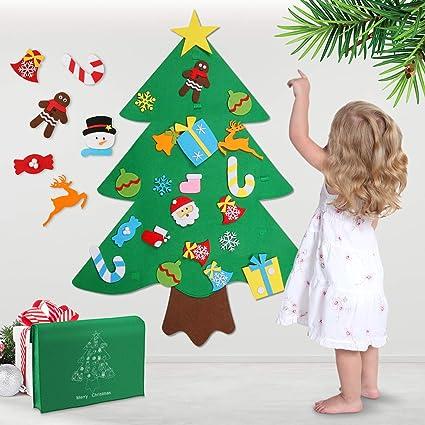 Amazon Com Felt Christmas Tree 3ft Diy Christmas Tree With 32pcs