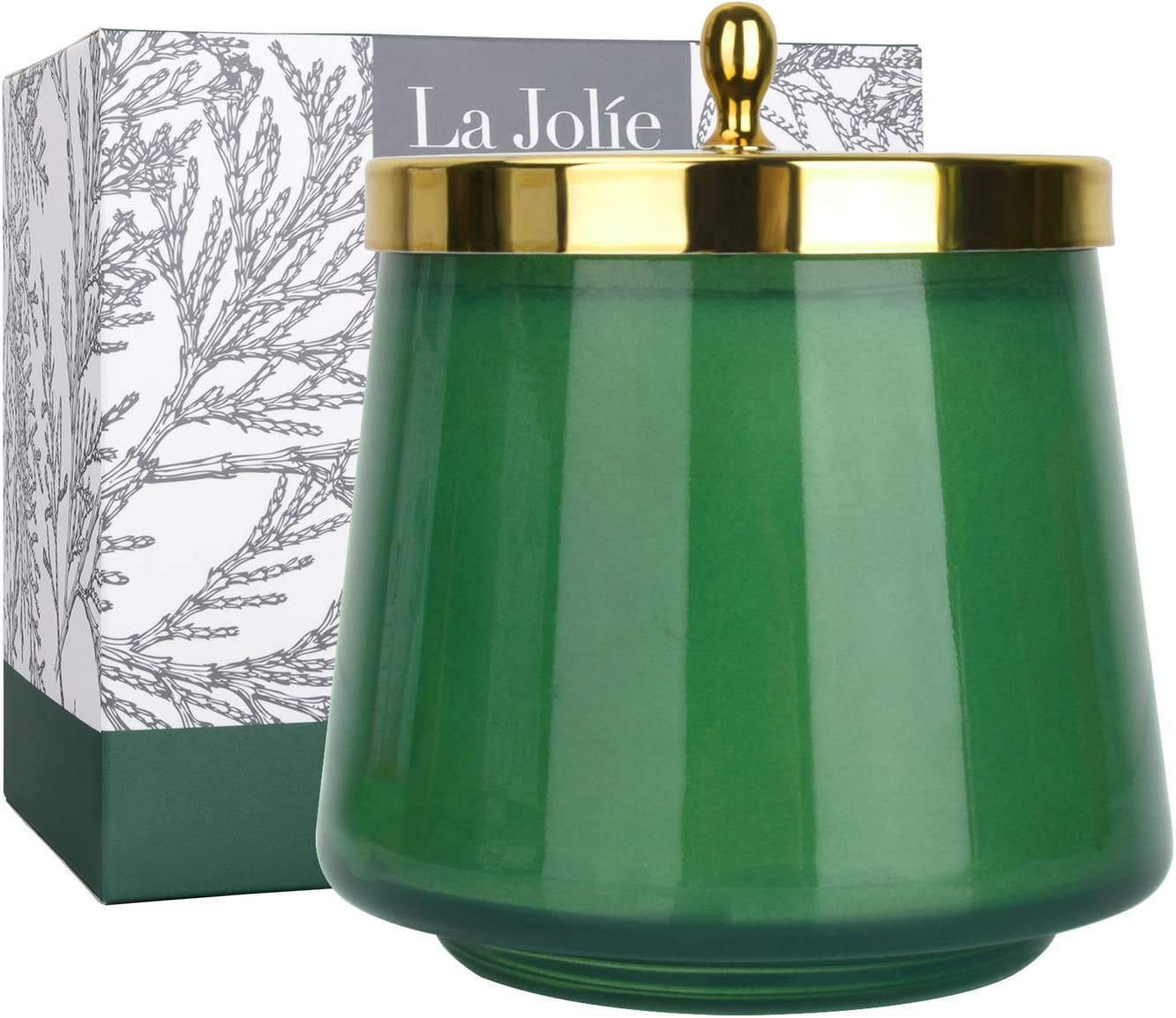 LA JOLIE MUSE Cedar & Balsam Scented Candle, Christmas Candle Gift, Jar Candle for Home, Holiday Candle, 75 Hours Long Burning, 12.3 Oz