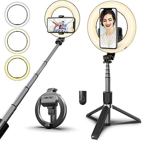 Syosin Selfie Stick Ringleuchte 5 Led Ringlicht Mit Kamera