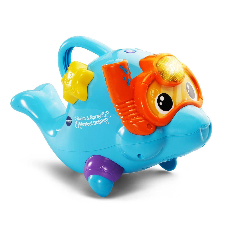 Amazon com vtech swim spray musical dolphin toys games