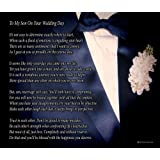 to my son on your wedding day one parent poem print 8x10