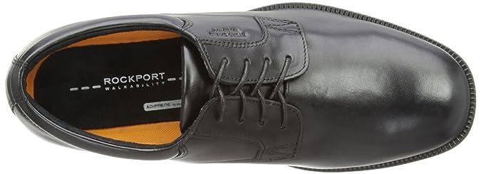 Rockport Essential Dtl Wp Pln - Zapatos de cordones, color Negro, talla 15.5 UK