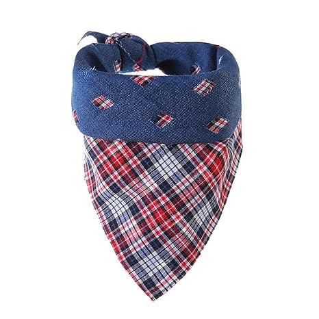 Lamzoom - Pañuelo de Cuello para Gatos/Perros, pañuelos Triangulares
