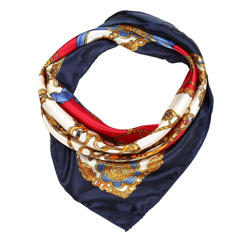 VBIGER 12PCS Womens Mixed Silk Square Scarves Bandana Scarf 50x50cm (Design 1)