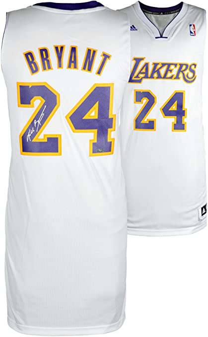 48d8a442452 Image Unavailable. Image not available for. Color  Kobe Bryant Los Angeles  Lakers Autographed adidas Swingman ...