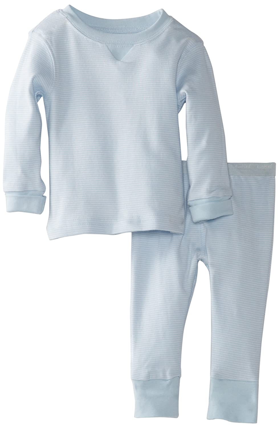 Kushies Baby Everyday Layette 2-Piece Set, Blue Stripe, 6 Months, 1 Pack A471-Blue Stripe-6 Months