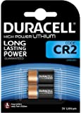 Pile lithium haute puissance Duracell CR2 3V, pack de 2 (CR15H270), conçue pour une utilisation dans les capteurs, verrous sans clé, flashs d'appareil photo et lampes de poche