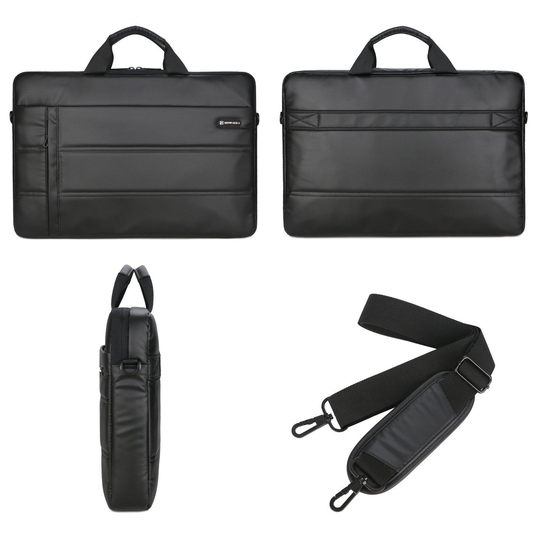 Laptop Messenger Bag 13.3 inch,BRINCH Waterproof Easy Clean Durable Business Laptop Bag Shoulder Bag Work Briefcase Sleeve Case Handbag for Men/Women,Fits 13-13.3'' Laptop/Notebook Computer,Black by BRINCH (Image #9)