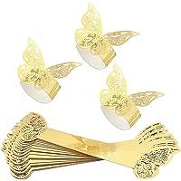30 unidades de anillos para servilletas, con diseño de mariposa, para boda, banquete, cena, fiesta, decoración de mesa…