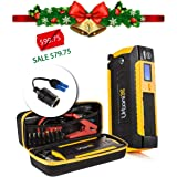 Urbanix 600A Peak 15000mAh – Portable car Jump Starter Battery Booster Charger- 4 X USB Power Bank, LCD Screen & Compass, Led Flashlight -Ideal for Camping, Special Bonus 12V Cigarette Lighter Adapter