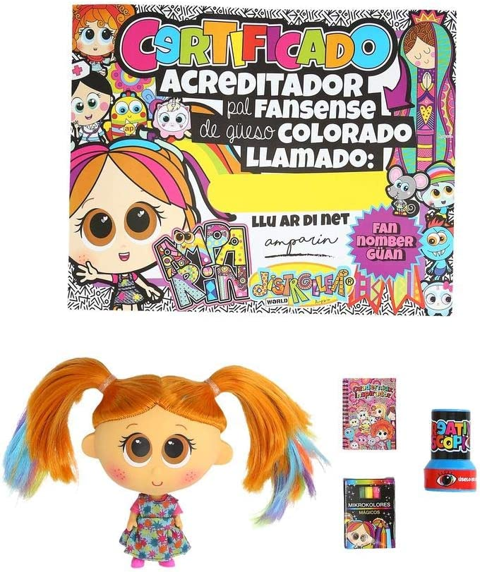 Instructions in Spanish Ksimerito Nerlie Neonate Baby Doll Distroller AMPARIN Limited Special Edition