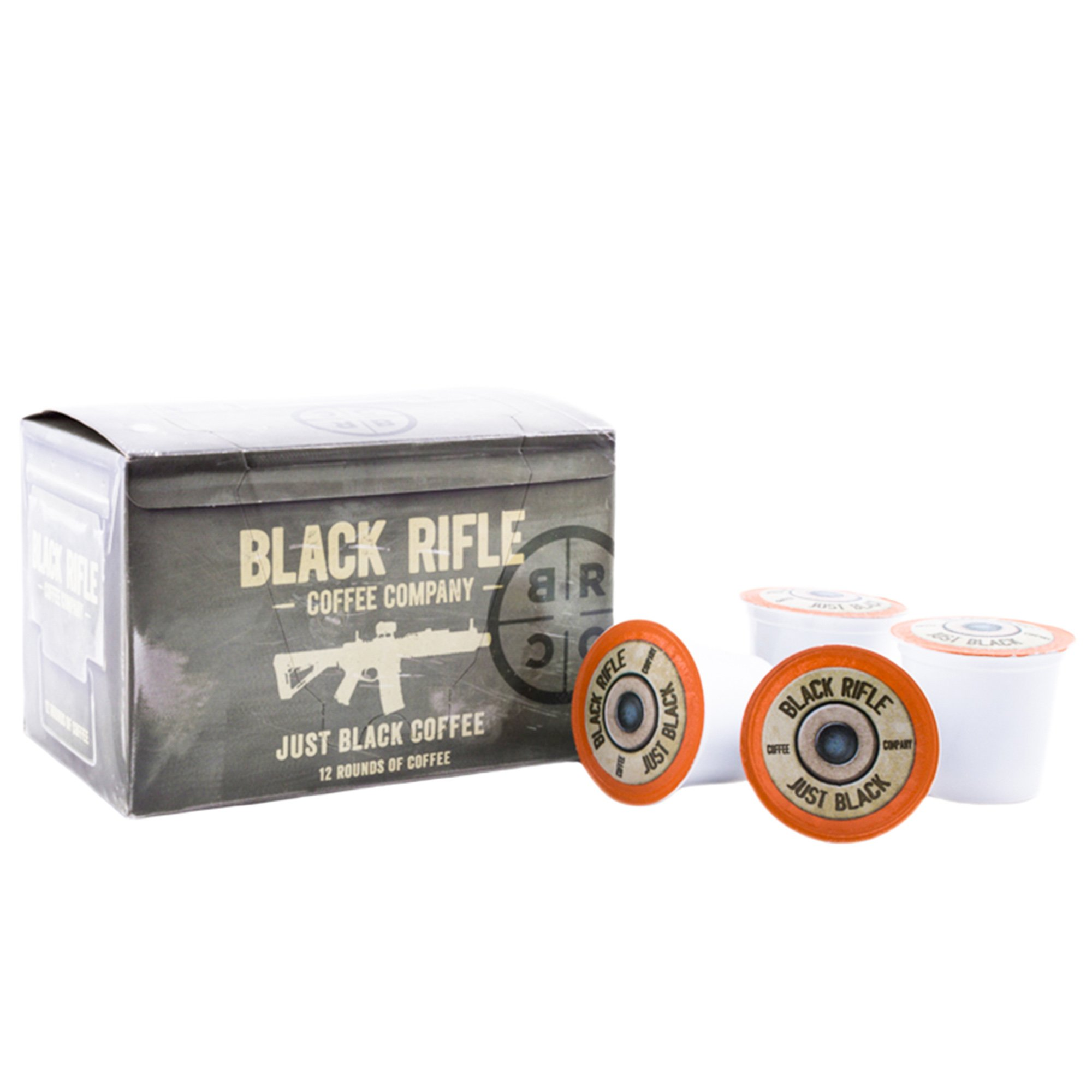 "Black Rifle Coffee Company JB ""Just Black"" Coffee Rounds for Single Serve Brewing Machines (12 ct)"