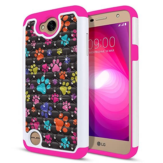 FINCIBO Case Compatible with LG X Power 2 LV7 M320 5.5 inch, Dual Layer Hybrid