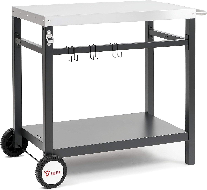 BBQ-Toro - Carro para Barbacoa | 85 x 50 x 81 cm | Mesa Auxiliar | Carro con Ruedas | Cocina al Aire Libre
