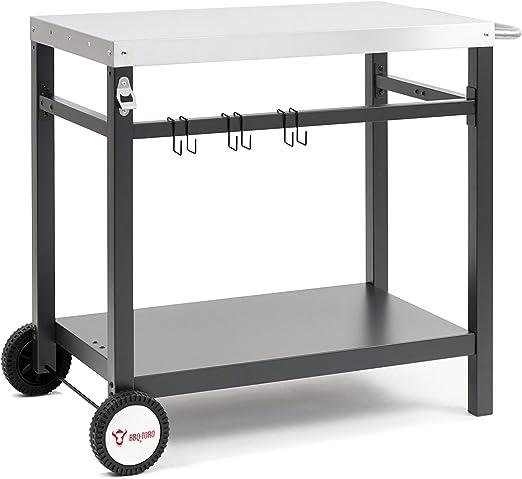 BBQ-Toro Carro para Barbacoa | 85 x 50 x 81 cm | Mesa Auxiliar ...