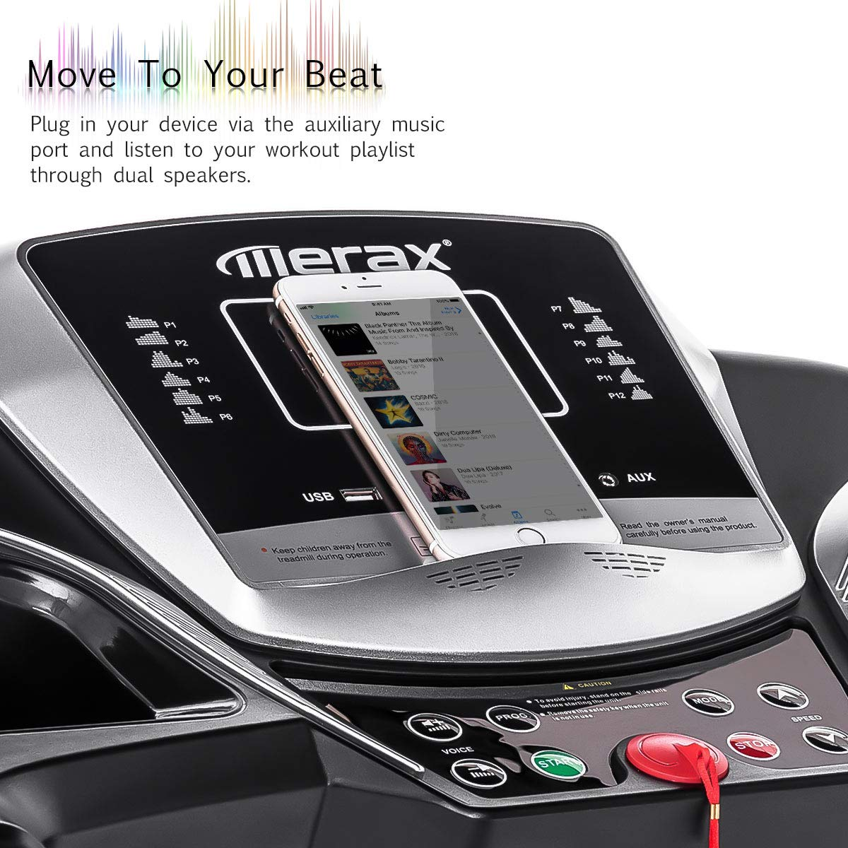 Merax Electric Folding Treadmill Easy Assembly Motorized Running Jogging Machine for Home by Merax (Image #2)