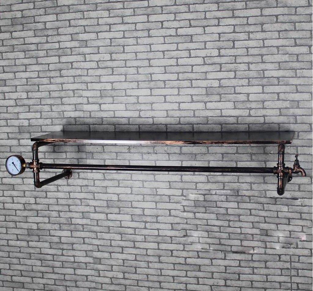 ウォールコートラック コートラックレトロ鉄パイプ衣服ハンガーリビングルームベッドルームウォールマウントウェアスタンド(120cm)   B07DJCJW6Y