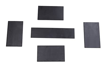 Izasur-Spain Número 5 Composición de Mesa, Piedra, Negro, 40x15x3 ...