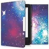 kwmobile Cover per Tolino Shine 2 HD - Custodia a libro per eReader - Copertina protettiva libro flip case Protezione per e-book reader Design spazio multicolore fucsia nero
