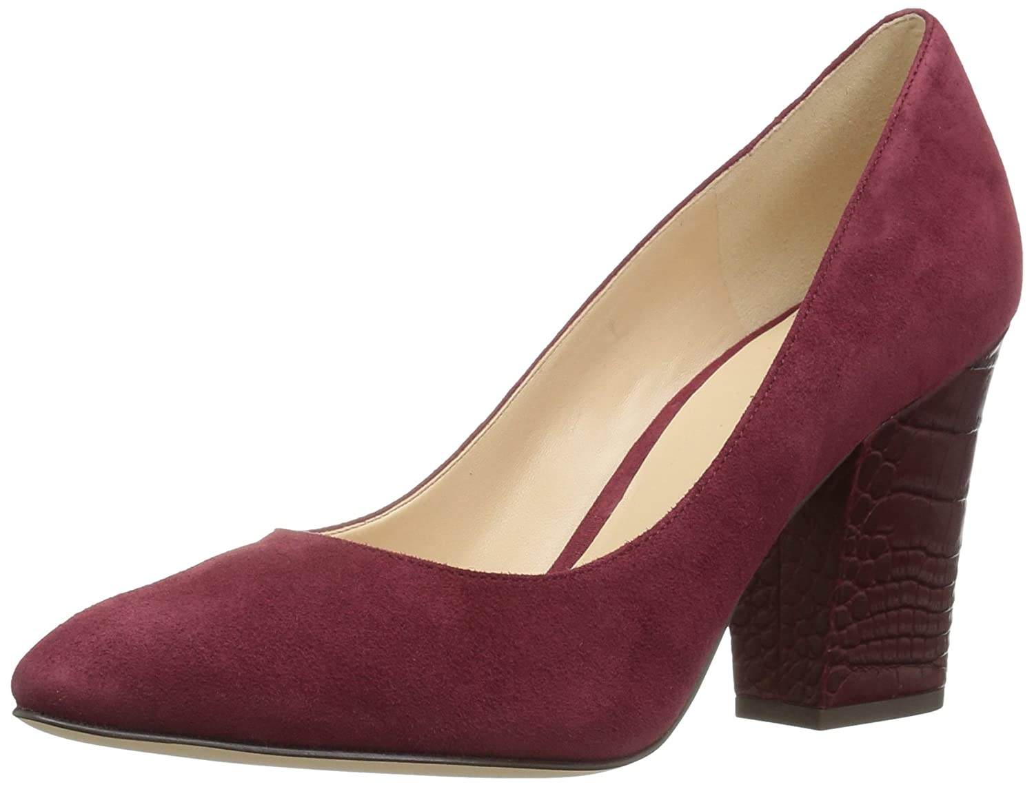 Nine West Women's Scheila Suede Dress Pump B01N2OYGTP 7 B(M) US|Oxblood